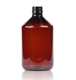 Bruine PET fles 500 mL