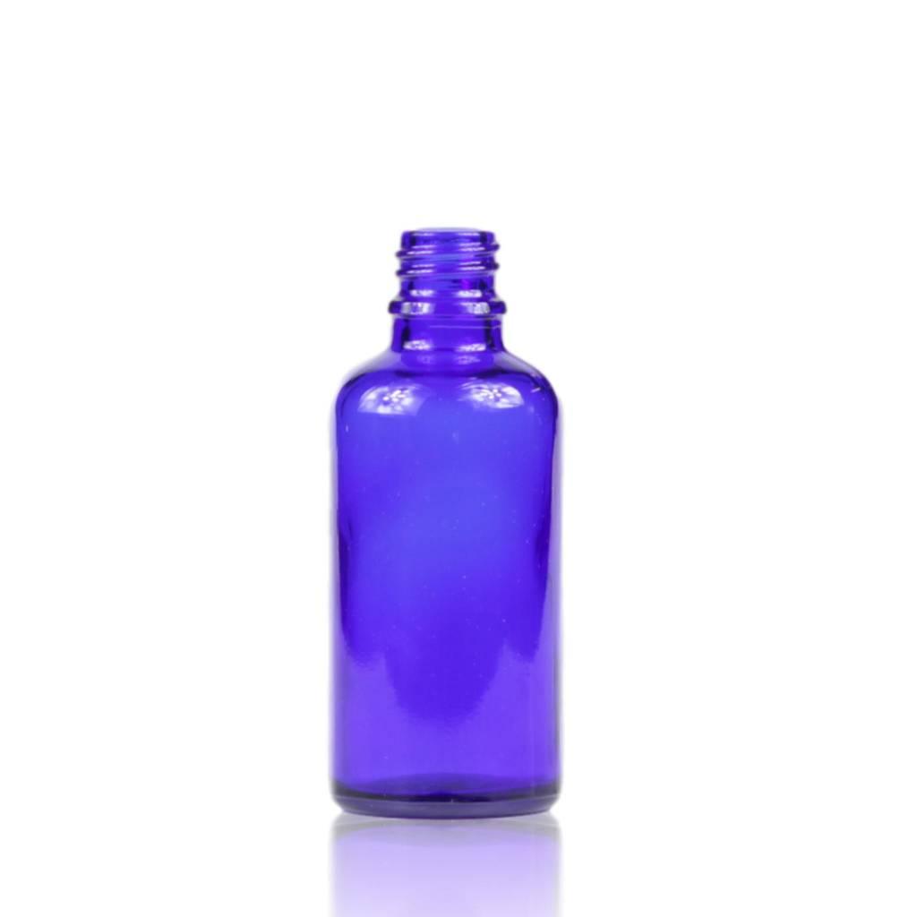 Blauwglas fles 50 mL