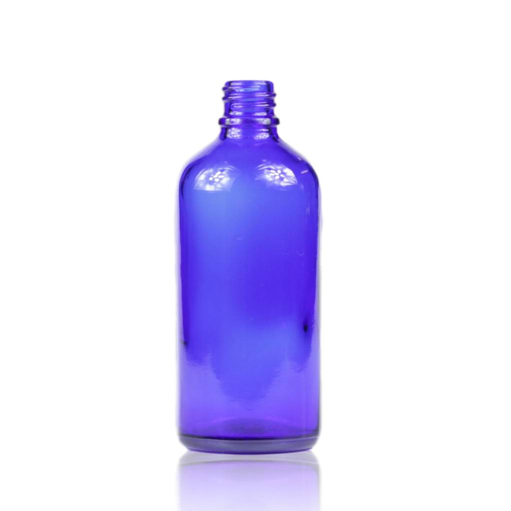 Blauwglas fles 100 mL