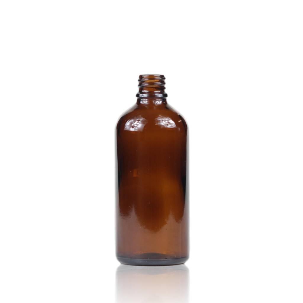 Bruinglas fles 100 mL