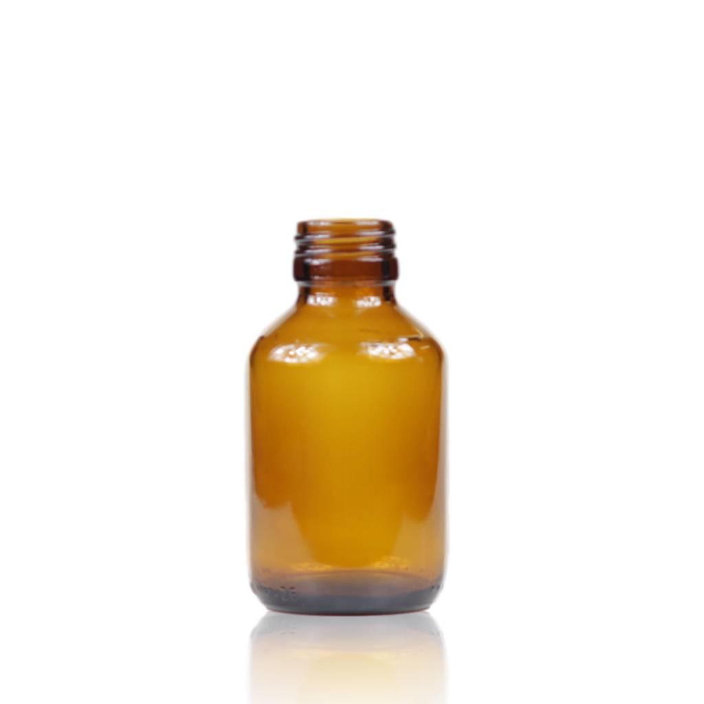 Bruinglas fles wijde hals 100 mL