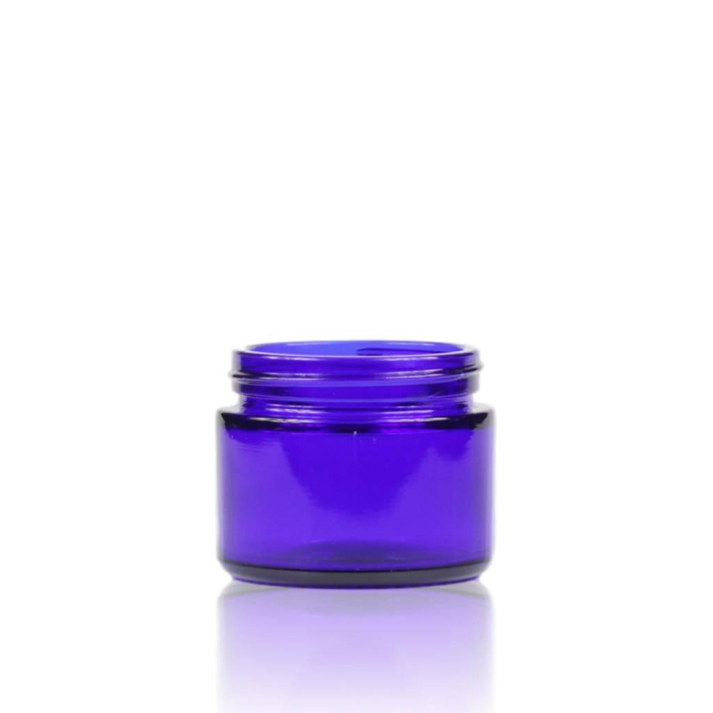Blauwglas crèmepot zonder deksel 50 mL