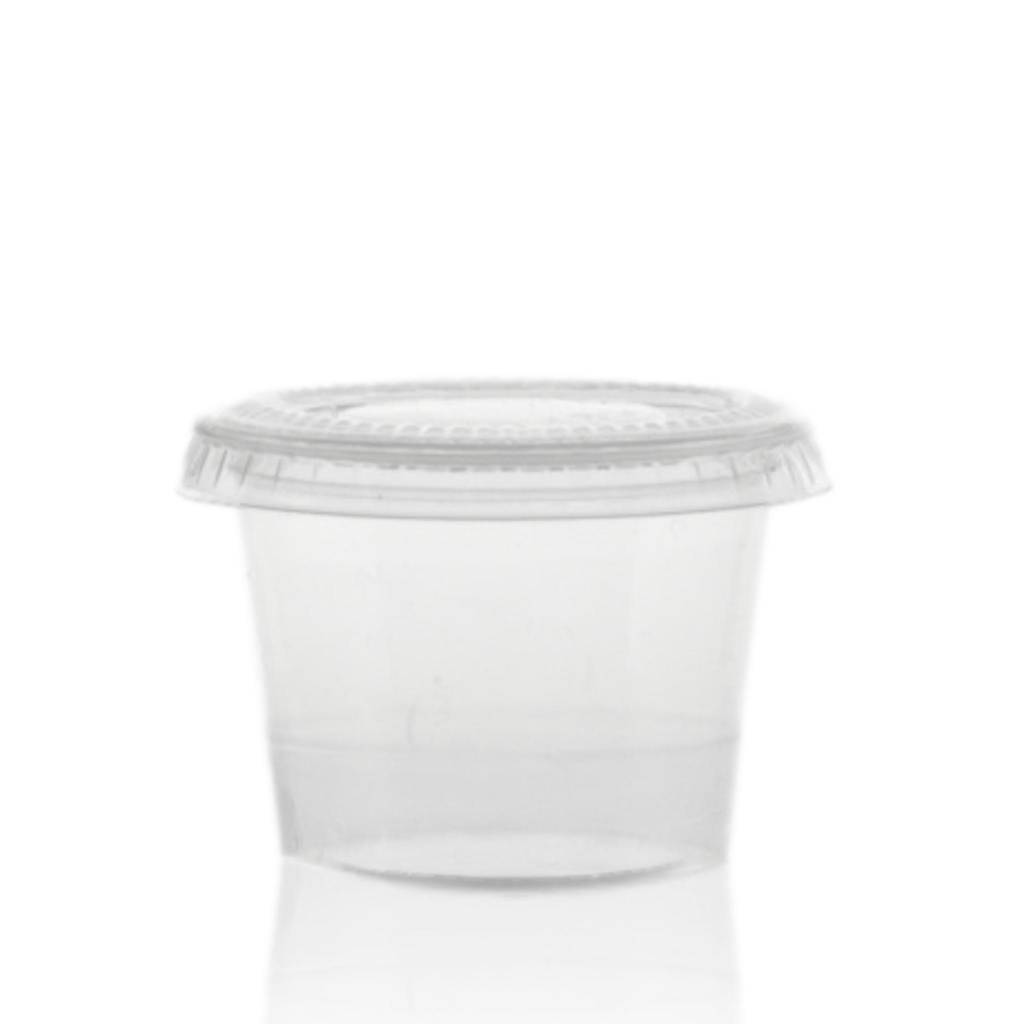 Bioplastic wegwerpcrèmepotje 30 mL
