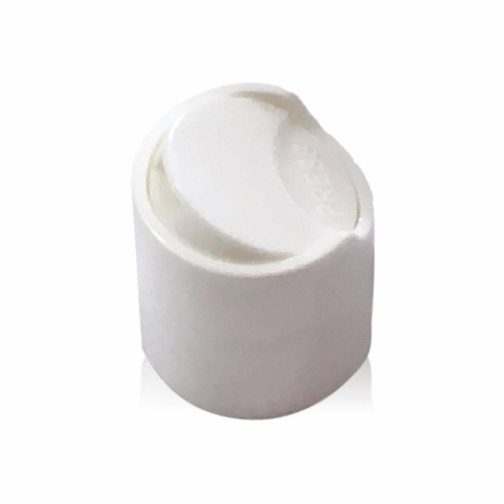 Witte klikspuitdop (halstype A of 20/410)