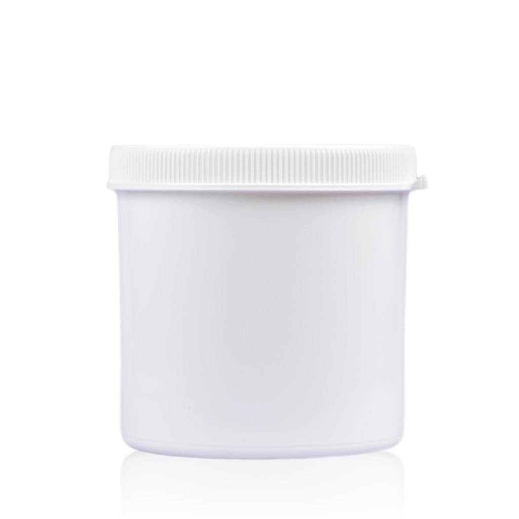 Cosmeticapot wit 600 mL