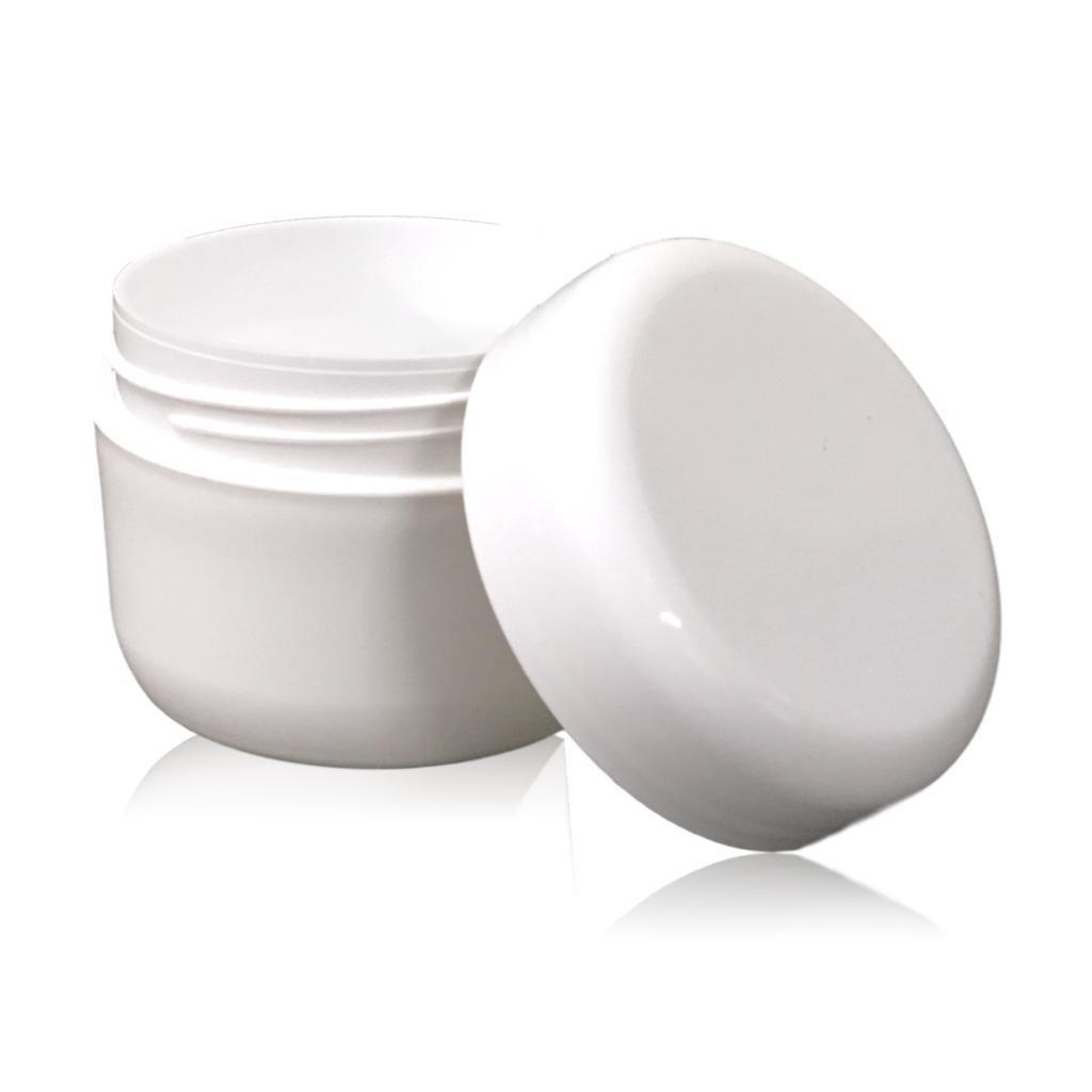 Witte crèmepot met foam inlay 50 mL