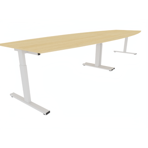 NICE PRICE OFFICE Vergadertafel PRO-FIT tonvorm 400x120 cm