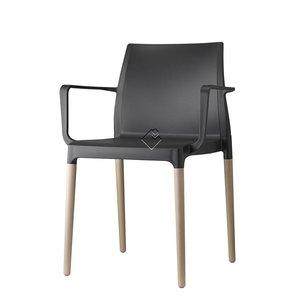 SCAB Design stoel CHLOE NATURAL Braccio