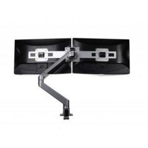 Filex Monitorarm Devon Enkel HD Gas tot 22Kg, zilver + Wing