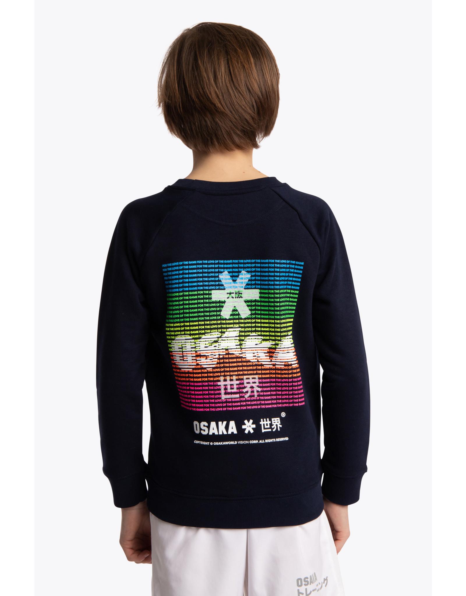OSAKA OSAKA DESHI SWEATER WARPY 20-21 NAVY