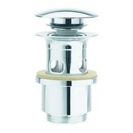 GO by Van Marcke  Afsluitbare lavaboplug met overloop in chroom