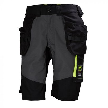 Helly Hansen Aker korte werkbroek  black/dark grey maat 46