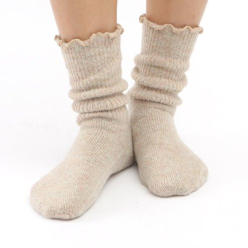 041160021 Room Socks douce chinée à côtes