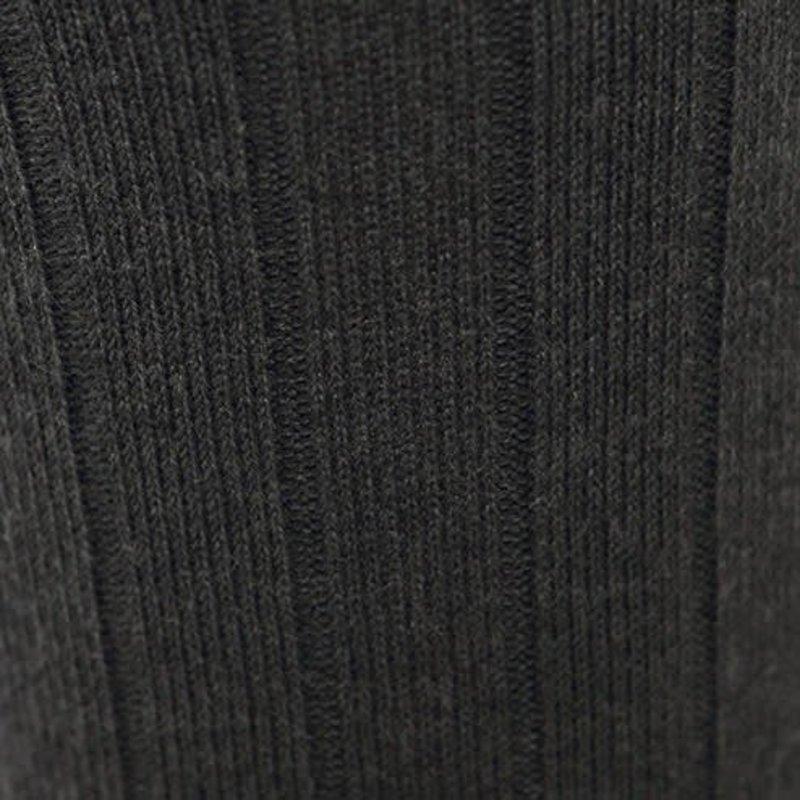 Calza alta lana a coste 9x2 M