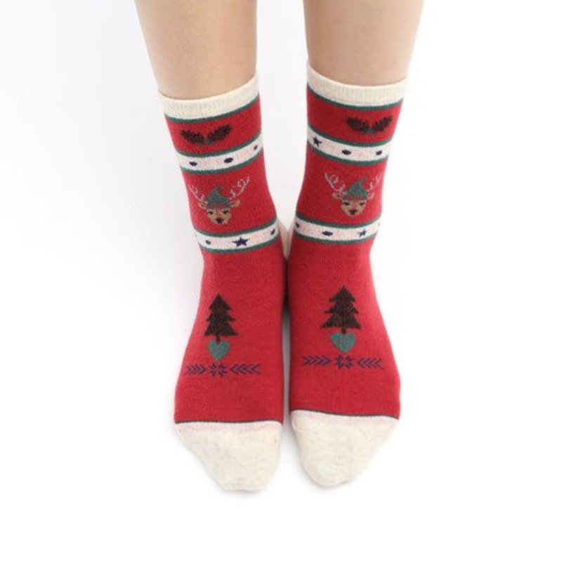Xmas Reindeer Mens Crew Socks