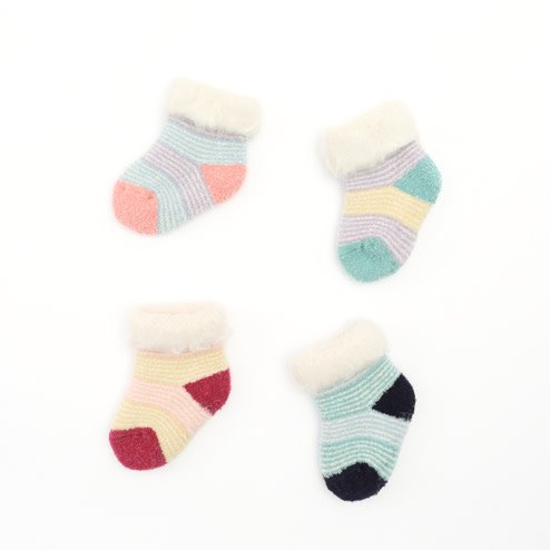 044130011 Room Socks rayures bébé Enf.9-12