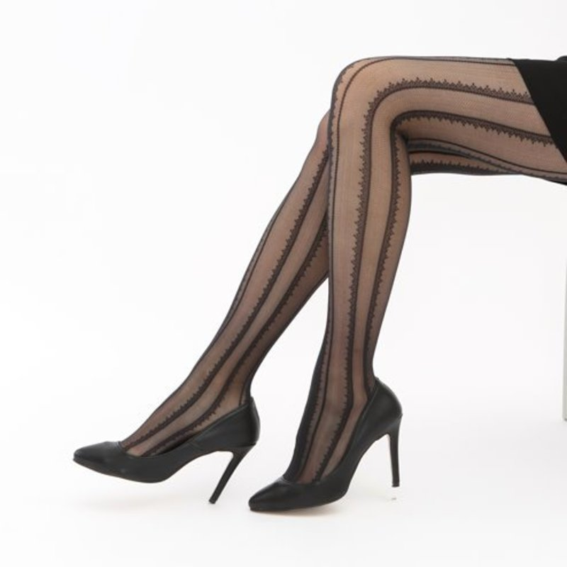Lace Stripe 20D Tights