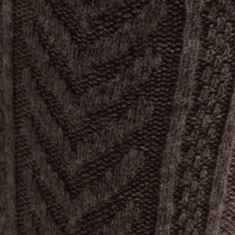 Diamond Cable Knit Wool Knee-High Socks