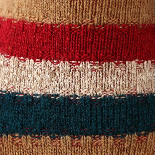 041130610 SQ laine rayures chinées