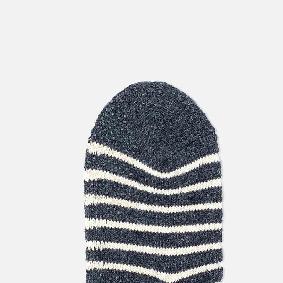 041000039 Room Socks rayures/noeud éponge