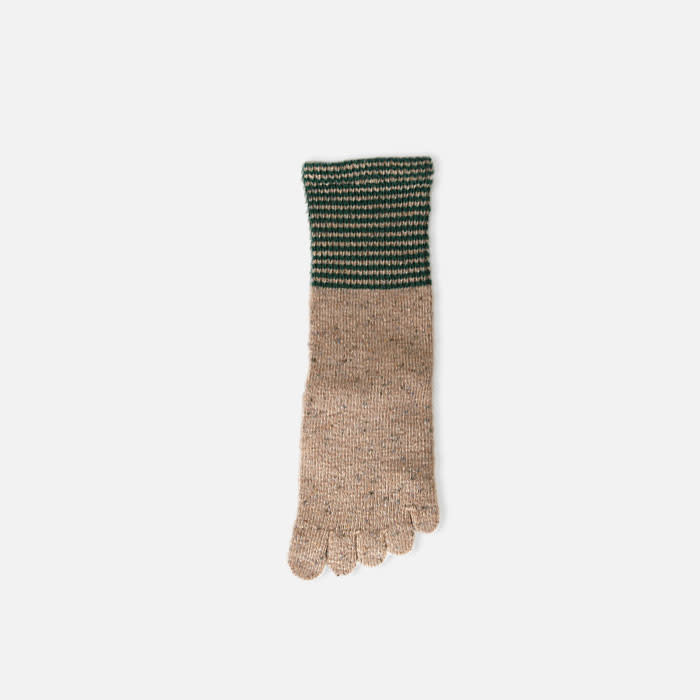 041140169 SQ 5 orteils laine chinée bord rayures