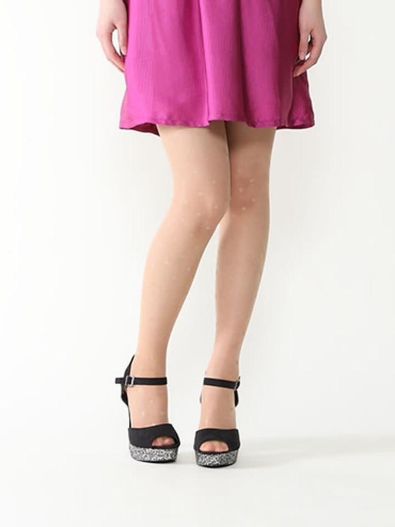 Aurore panty met fijne stippen