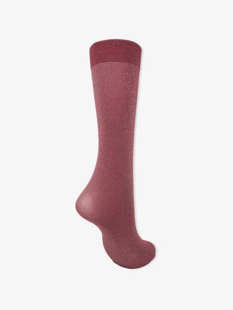 Calcetines hasta la rodilla de lamé