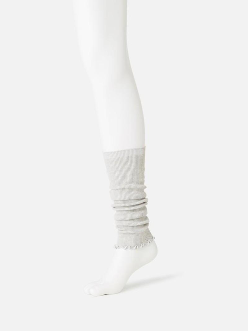 Lange beenwarmer van biologisch katoen. natuurlijk