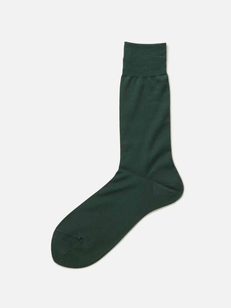100% Cotton Plain Mid-Calf Socks XL