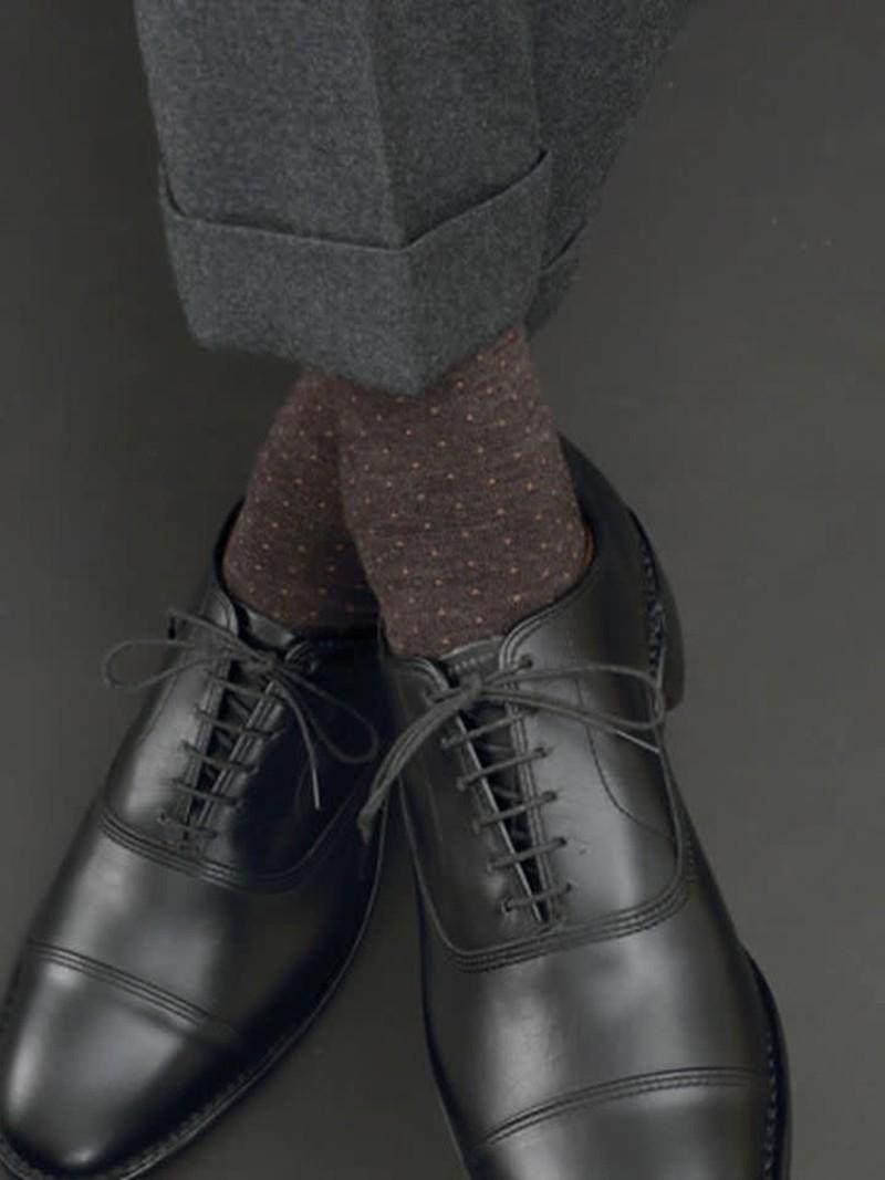 Mi-chaussette pois laine Mérinos L