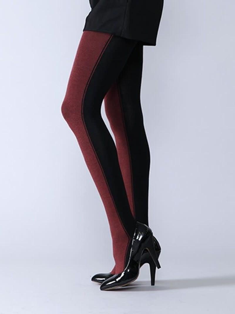 Tweekleurige katoenen panty