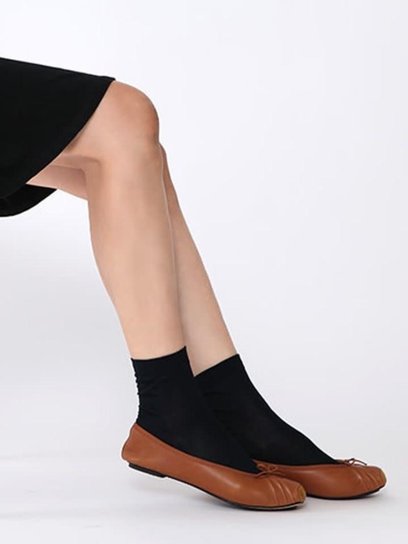 100% Coton Plain Mid Calf Socks L