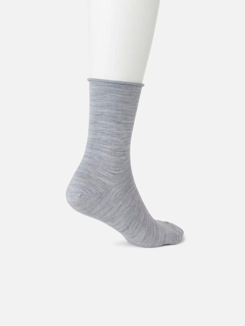 Socquette laine bord roulé K200