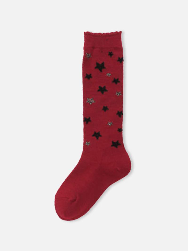 Chaussette haute étoiles Enf.19-21
