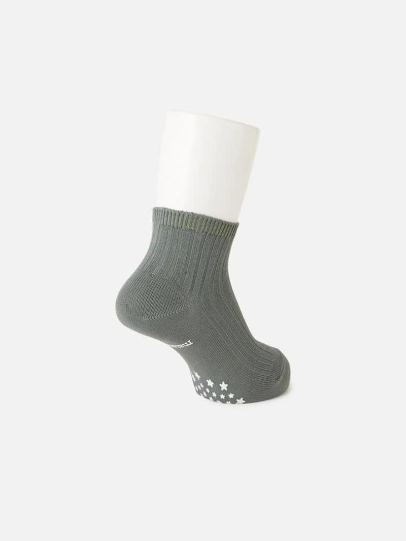 Calcetín liso de algodón canalé 13-15cm