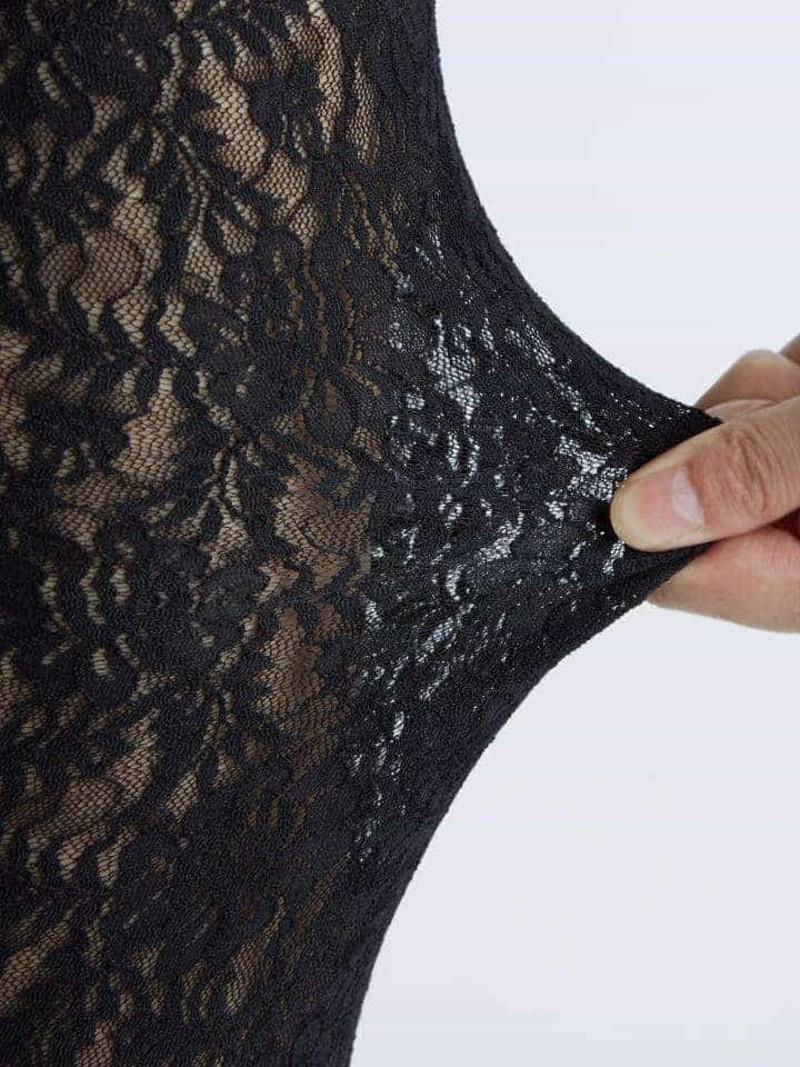 Peony Stretchy Lace Long Leggings M