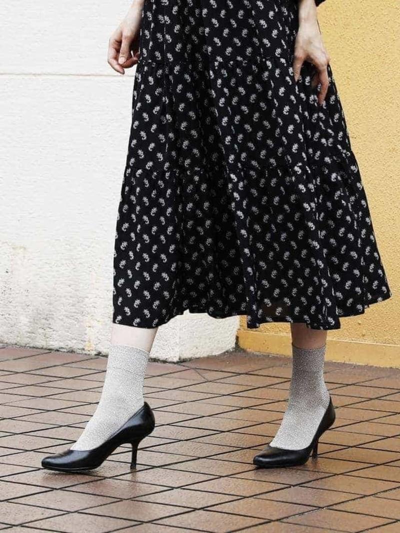 Sparkly Ankle Socks S