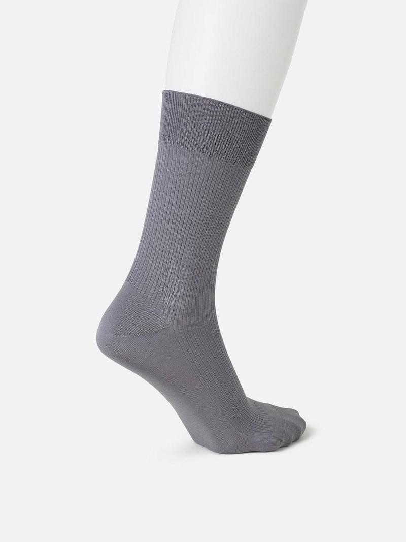 Non-Elastic Plain Rib 220N Crew Socks L