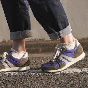 kurze gerippte Socken für Turnschuhe