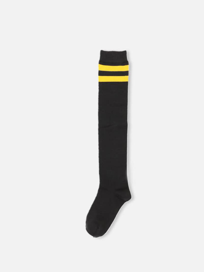 Lange gestreifte Socke mit Rand Kinder 19-21