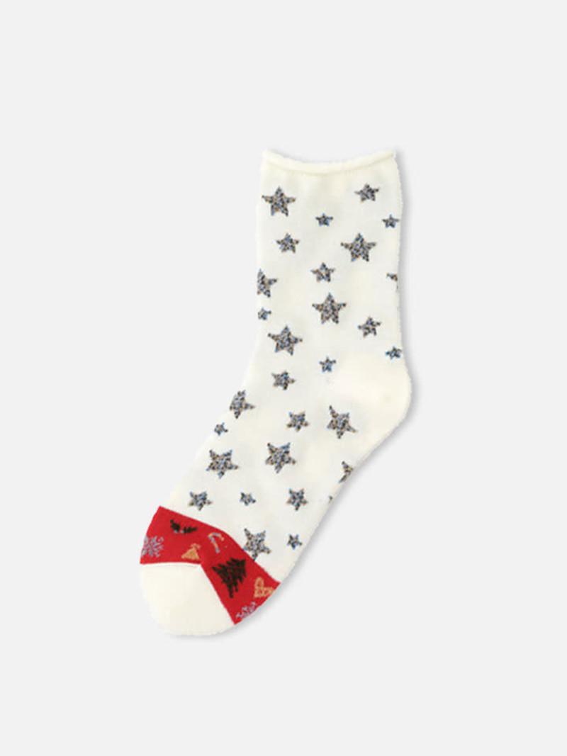 Weihnachtsnacht Sternsocke