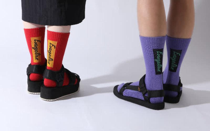 Mi-chaussette Evangelion Logo à l'arrière S