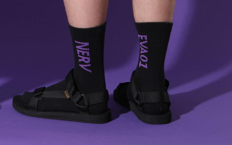 Evangelion Nerv Logo Low Crew Socks M