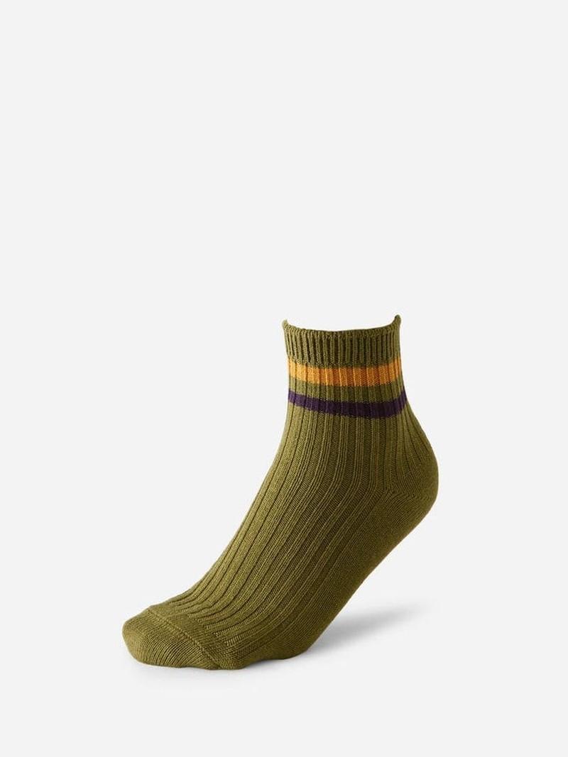 Socquette 2 rayures bicolores 96N
