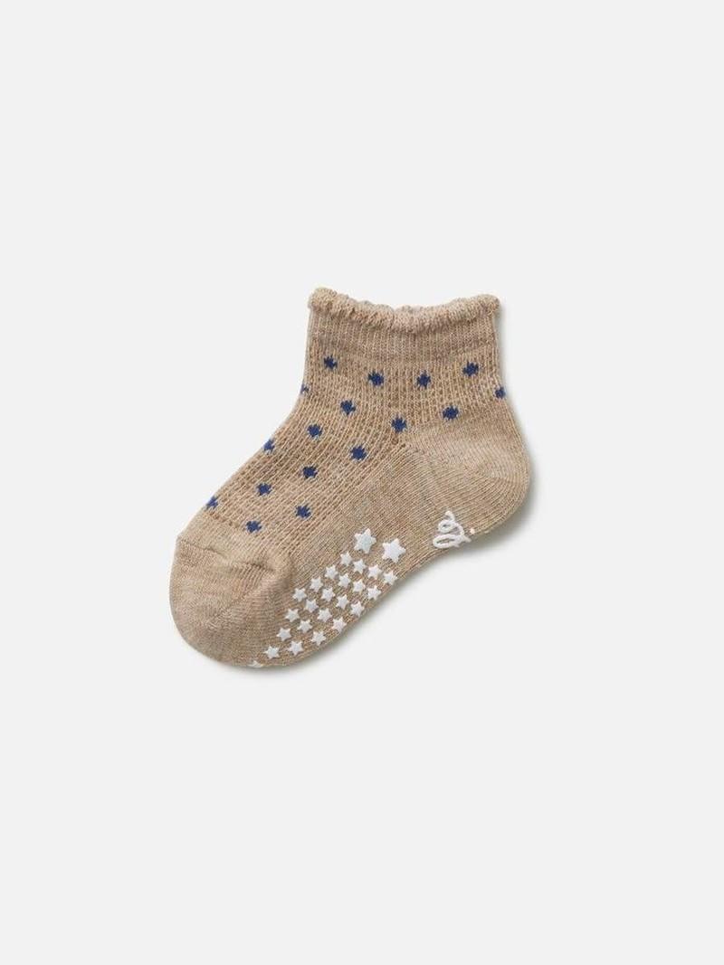 Kurze rutschfeste Polka Dot Socke Kinder 11-13