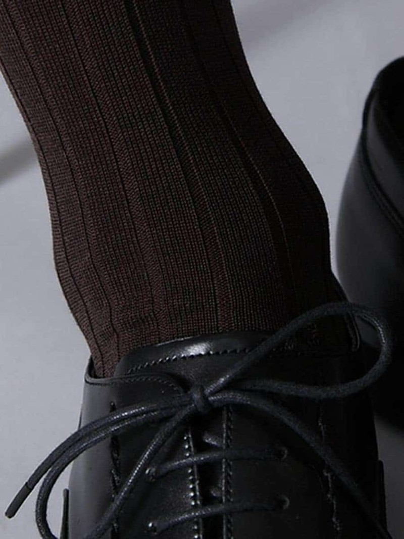 Calzini al ginocchio deodorante a costine 9x2 L