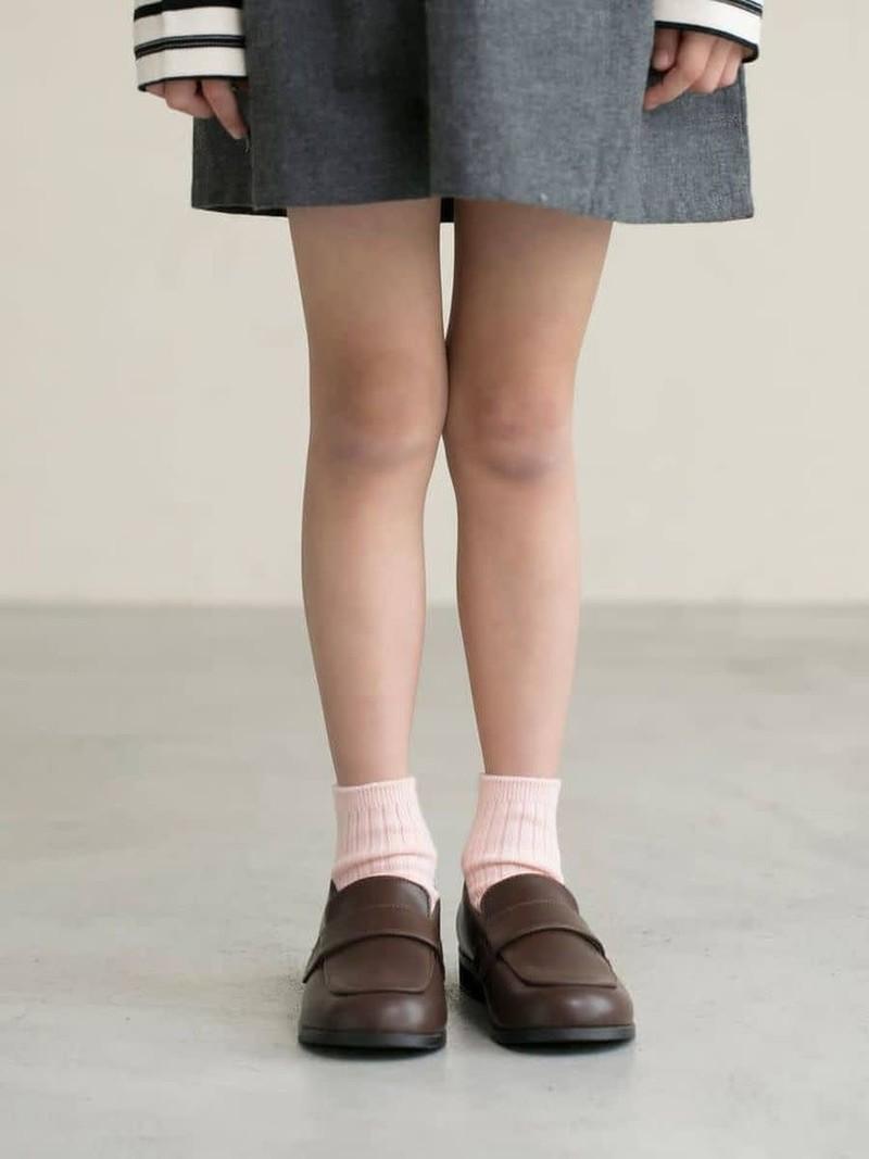 Einfache gerippte Baumwollsocke Kinder 16-18cm