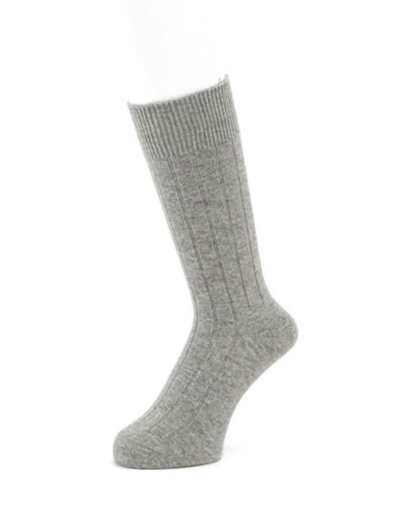 Cashmere Ribbed 120N Socks M
