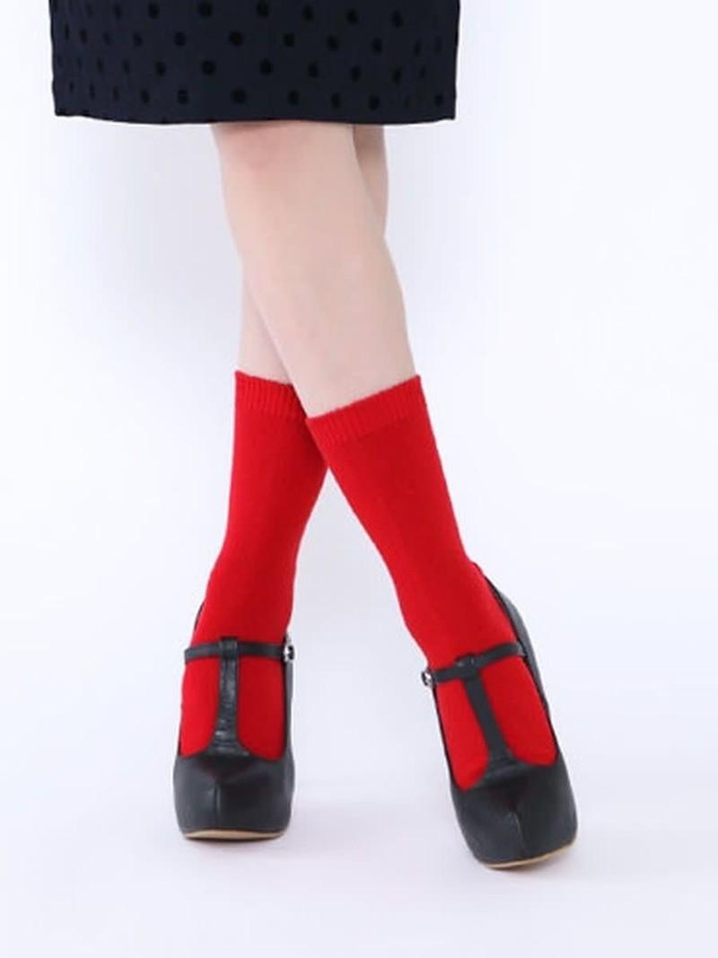 Mi-chaussette unie cachemire/laine M