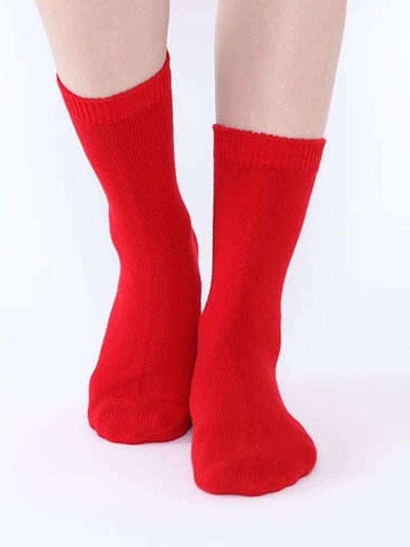 Mi-chaussette unie cachemire/laine L